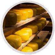Cheese Factory Round Beach Towel