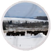 Cheese Makers With A View Round Beach Towel