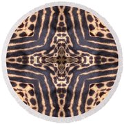 Cheetah Cross Round Beach Towel