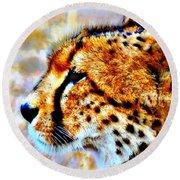Cheetah IIi Round Beach Towel