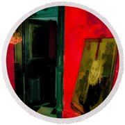 Chelsea Hotel Abstract Round Beach Towel