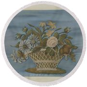 Chenille Embroidery Round Beach Towel