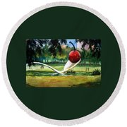 Cherry And Spoon Round Beach Towel