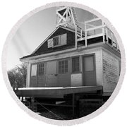 Cherry Beach Boat House Round Beach Towel