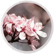 Cherry Blossom Round Beach Towel