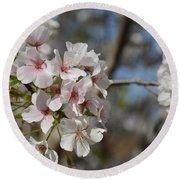 Cherry Blossom Cluster Round Beach Towel