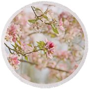 Cherry Blossom Delight Round Beach Towel