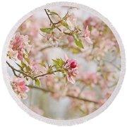 Cherry Blossom Delight Round Beach Towel by Kim Hojnacki