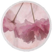 Cherry Blossom Froth Round Beach Towel