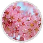Cherry Blossom Pastel Round Beach Towel