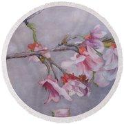 Japanese Cherry Blossom Tree Round Beach Towel