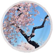 Cherry Blossom Trilogy II Round Beach Towel