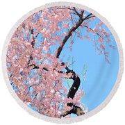 Cherry Blossom Trilogy IIi Round Beach Towel