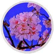 Cherry Blossoms 004 Round Beach Towel