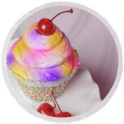 Cherry Cupcake Round Beach Towel