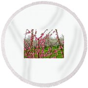 Cherry 'n' Apple Blossoms Round Beach Towel