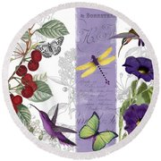 Cherry Picked I Round Beach Towel