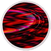 Cherry Red Round Beach Towel