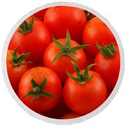 Cherry Tomatoes Fine Art Food Photography Round Beach Towel