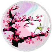 Cherry Tree Round Beach Towel
