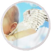 Cherub Round Beach Towel