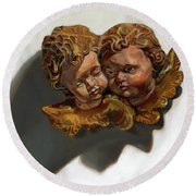 Cherubs Round Beach Towel