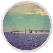 Chesapeake Bay Bridge Round Beach Towel
