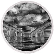 Chesapeake Bay Bw Round Beach Towel