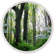 Chesapeake Oldgrowth Forest Round Beach Towel