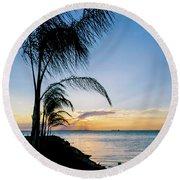 Chesapeake Sunset - Full Color Round Beach Towel