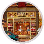 Cheskies Hamishe Bakery Round Beach Towel