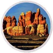 Chesler Park Sandstone Towers Round Beach Towel