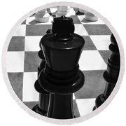 Chess Pano Round Beach Towel