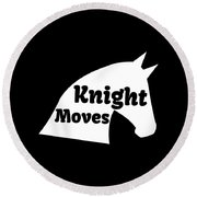 Chess Player Gift Knight Moves Horse Lover Chess Lover Round Beach Towel
