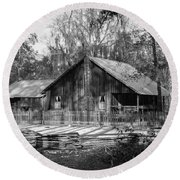 Chesser Island Homestead Round Beach Towel