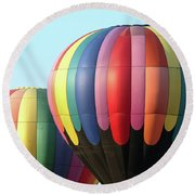 Chester County Balloon Fest 8765 Round Beach Towel