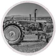 Chesterfield Tractor Round Beach Towel