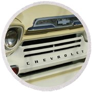 Chevrolet Apache 31 Fleetline Front End Round Beach Towel