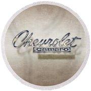 Chevrolet Camaro Badge Round Beach Towel