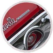 Chevrolet Chevelle Ss Taillight Emblem 2 Round Beach Towel