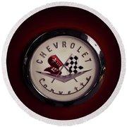 Chevrolet Corvette, Corvette Logo Round Beach Towel