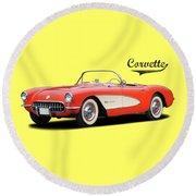 Chevrolet Corvette Round Beach Towel