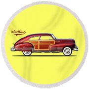 Chevrolet Fleetline 1948 Round Beach Towel