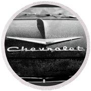 Chevrolet Hood 1 Round Beach Towel