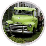 Chevrolet Old Round Beach Towel