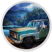 Chevy Bonanza Round Beach Towel
