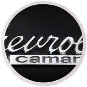 Chevy Camaro Emblem Round Beach Towel
