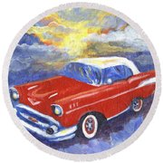 Chevy Dreams Round Beach Towel