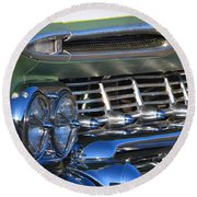 Chevy Low And Slow Round Beach Towel