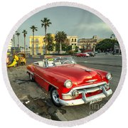 Chevy On The Prom  Round Beach Towel